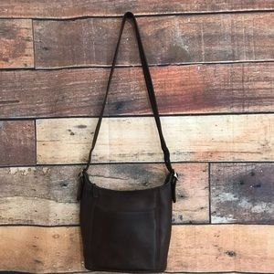 Vintage Coach Brown Leather Crossbody F9C-9816